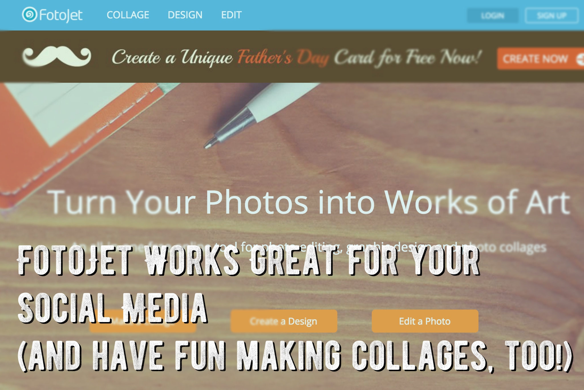 FotoJet Works Great for your Social Media (and have fun making collages, too!)