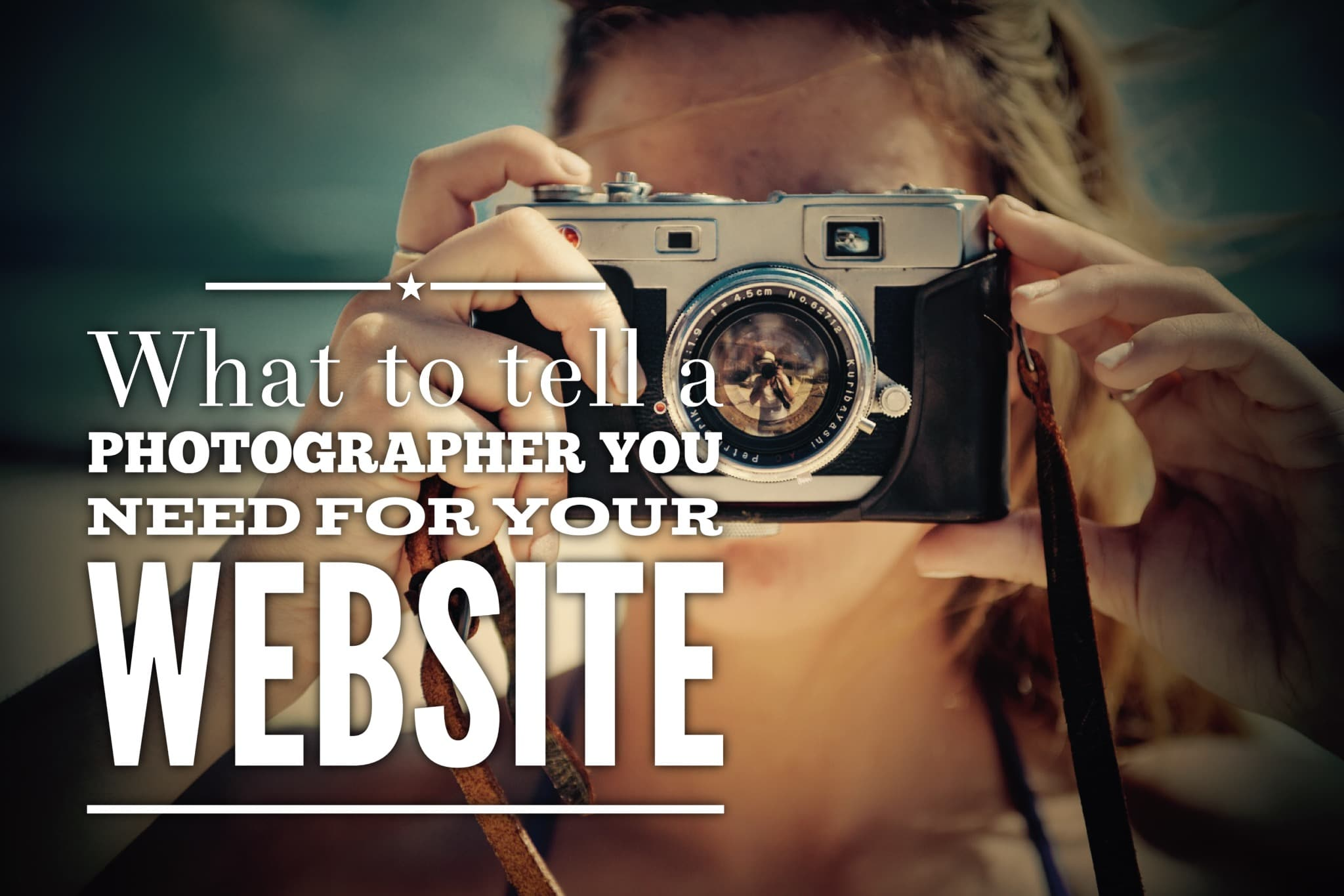 What to tell photographers you need for your website